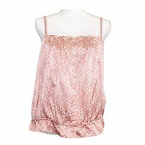 NWOT GAP Silk Blend Pink Ruffles Camisole Blouse